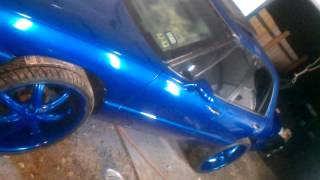 candy blue on blue buick lesebre on 24's.......sucker punch customs ....