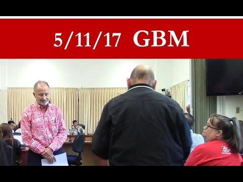 May 11, 2017 – Hawaiʻi BOE General Business meeting (GBM)