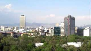 Looking over CHAPULTEPEC PARK and MEXICO CITY from the CASTLE
