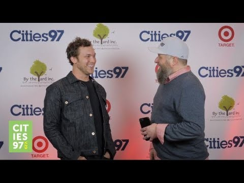 Paul Fletcher interviews Phillip Phillips at the Cities 97 Sampler Release Party 2017