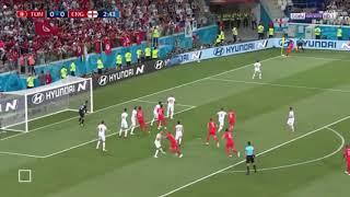 ملخص مباراة إنجلترا و تونس 1-2☆  جنون عصام الشوالي