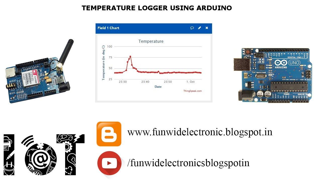Arduino gsm module temperature logger using thingspeak