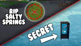 SALTY SPRINGS MIGHT BE DESTROYED!?!? SECRET VENDING MACHINE!! (Fortnite Battle Royale)