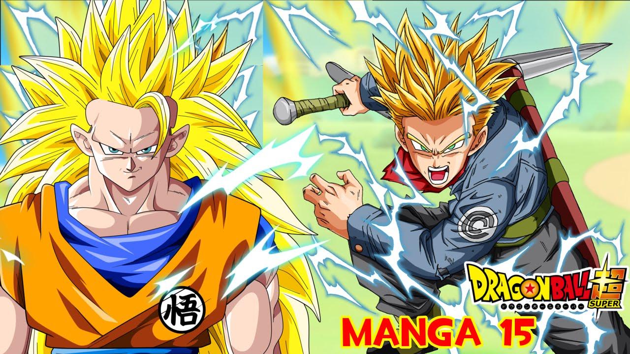DRAGON BALL SUPER MANGA 15 ESPAÑOL : BLACK GOKU VS TRUNKS