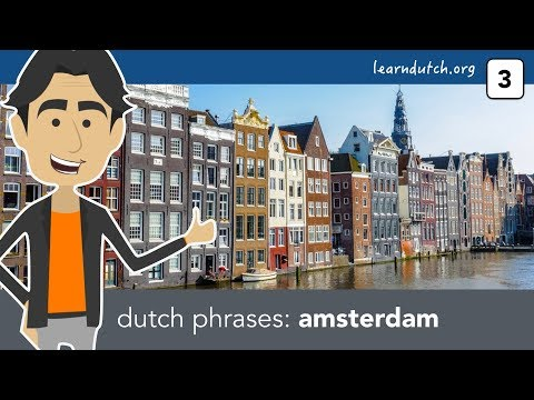 Lesson - 3: Amsterdam | Learn Dutch phrases with Bart de Pau! from YouTube · Duration:  6 minutes 28 seconds