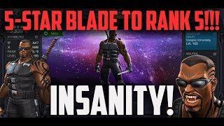 5-Star Blade to RANK 5 + Red Hulk 1-Shot - BEASTMODE!!! - Marvel Contest of Champions