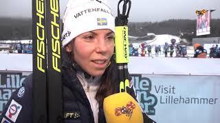 Charlotte Kalla i tårar - efter jaktstarten i Lillehammer