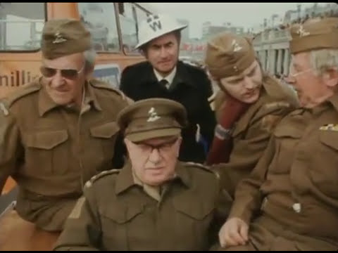 Members of the original Dad's Army cast doing some PR in Brighton. 1974.
