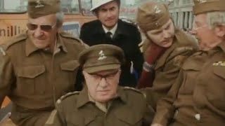 members of the original dad s army cast doing some pr in brighton 1974