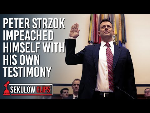 Peter Strzok Impeached Himself With His Own Testimony