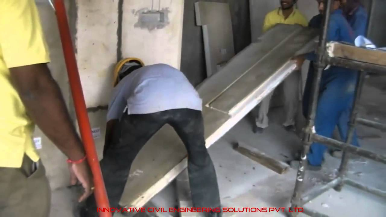 Internal Partition Wall Sandwich Panel Installation Youtube