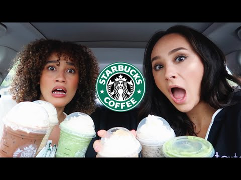 Trying my subscribers CRAZY Starbucks drinks!