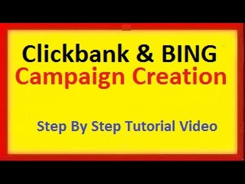 How To Promote Clickbank Products Making Huge Profits Using Bing PPC Ads