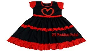 Kids Cotton Summer LOVE Dresses for Cute Baby | Cutting and Stitching Full Video