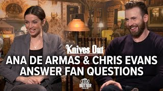 Knives Out: Ana de Armas & Chris Evans Answer Fan Questions | Extra Butter Fun Interview