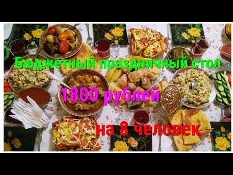 Бюджетный праздничный стол.1800 руб на 8 человек.