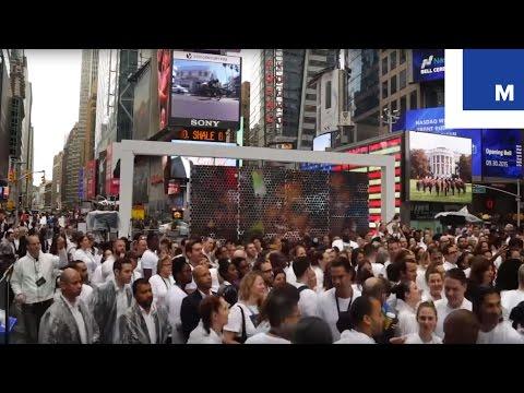 Gap's P.A.C.E. event in Times Square