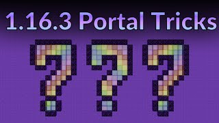 5 Secret Portal Tricks You Didn't Even Know Existed [Minecraft 1.16.3]
