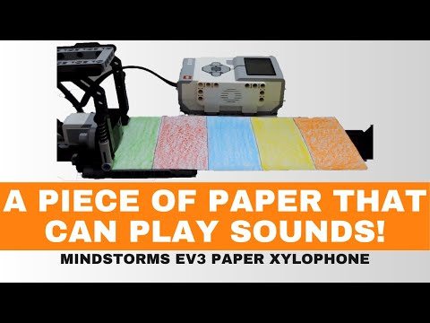 The paper xylophone   Using Lego mindstorms EV3
