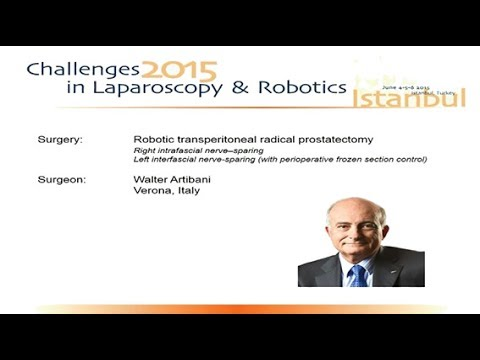 CILR 2015 - Walter Artibani - Robotic radical prostatectomy