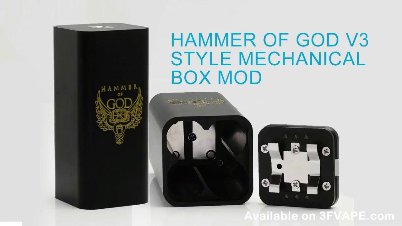Hammer of God V3 Style Mechanical Box Mod 4 x 18650
