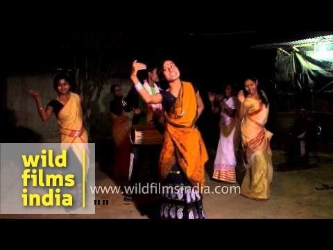 Bihu dance by Assamese girls - India