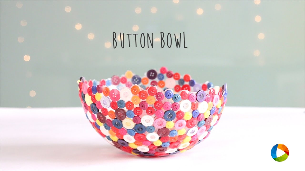crafts for kids with paper, easy DIY craft ideas for kids, easy paper crafts for kids, DIY craft ideas Image result for button bowl kids diy