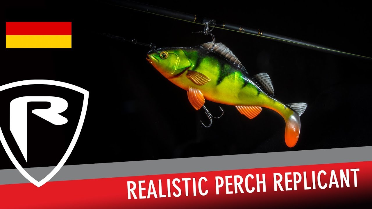 Fox Rage Gummifisch Realistic Replicant Perch 10cm Super Natural Wounded Perch