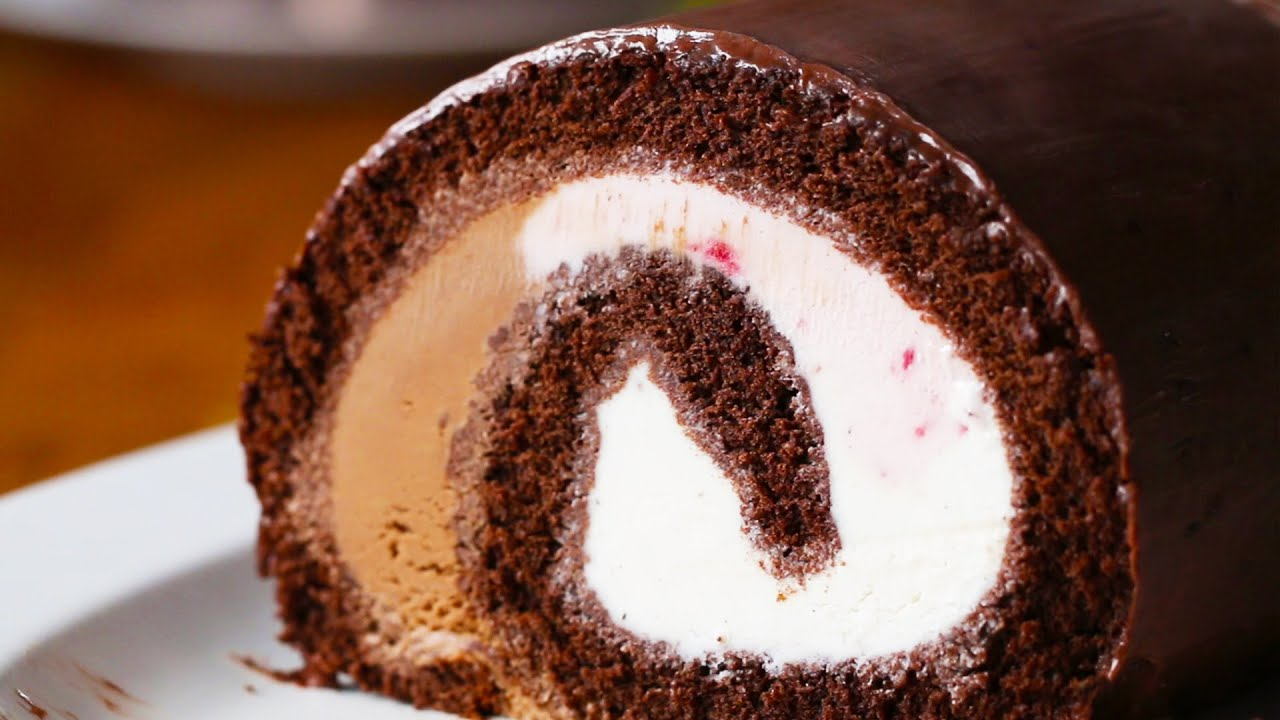 maxresdefault - Neapolitan Ice Cream Cake Roll