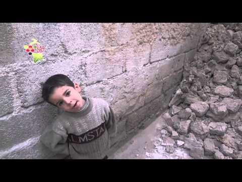 ريف دمشق دوما آثار الدمار جراء قصف قوات الأسد على منازل المدنيين 12 12 2014