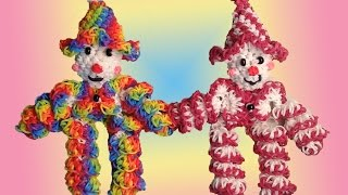 New 3D Loomigurumi / Amigurumi Spiral Clown - Rubber Band Crochet – Rainbow Loom - Hook Only
