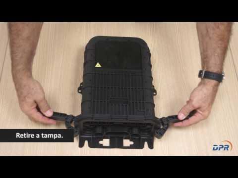 Montagem da Caixa de Terminação Óptica - CTO   Vídeo Completo