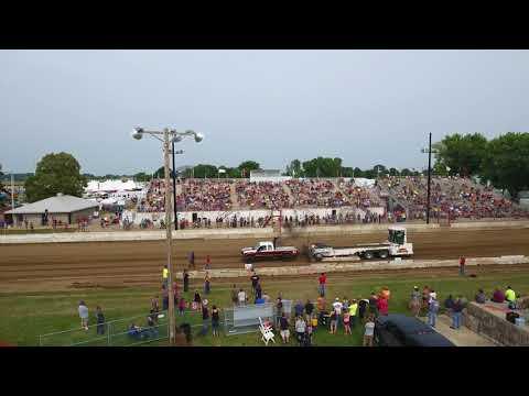 Street Diesel Truck Pull at the Dodge County Fair near Beaver Dam Wisconsin