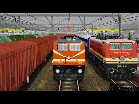 Loco Failed of Avadh Express | Rescue By AJJ WAP4 | MSTS Indian Railways | Train Simulator