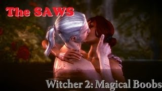 The Witcher 2 - Elven Ruins Sex Scene (magical boob reveal)
