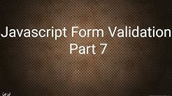 #20 Javascript (Form Validation) Part 7 شرح