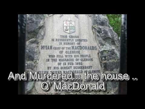Campbells murdred the MacDonalds of Glencoe