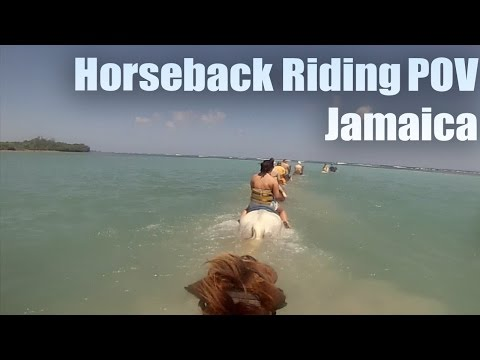 Beach Horseback Riding (POV) | Ride 'N' Swim Jamaica | Unique Tourism