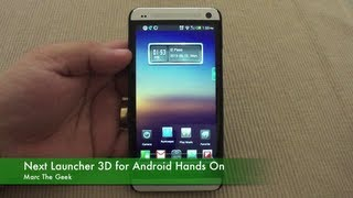 Next Launcher 3D for Android Hands On