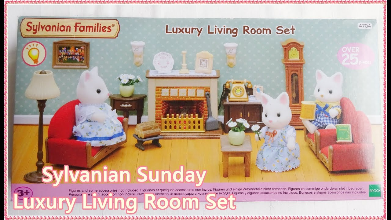 Sylvanian Sunday Luxury Living Room | Sylvanian Families Callico Critters  Opening U0026 Review
