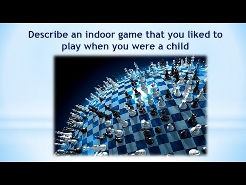 Real Ielts speaking part 2|Describe an indoor game that you liked to play when you were a child.