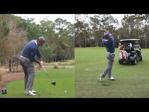 GARY WOODLAND - DRIVER & IRON SWING REGULAR & SLOW MOTION TIBURON GOLF COURSE 1080p
