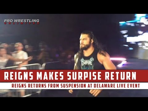Roman Reigns Makes Surprise Return At Delaware House Show