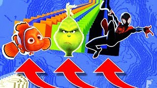 NE DESCENDEZ PAS DANS LE MAUVAIS TOBOGGAN MINECRAFT !! Nemo Le Grinch Spider-Man New Generation !