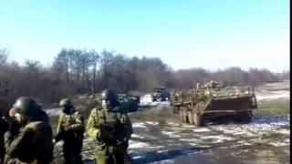 Силовики готовятся к бою на окраине Дебальцево, Донбасс, АТО, Украина