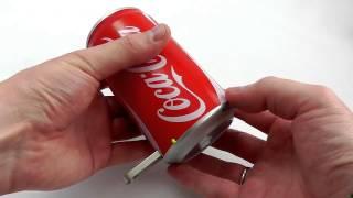 Портативная банка-колонка Coca-Cola. Видео-обзор(Банка Coca-Cola -- это не банка с напитком, это оригинальная портативная колонка с MP3 плеером и FM радио. Отличный..., 2013-12-13T04:25:54.000Z)