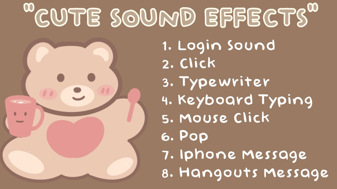 CUTE SOUND EFFECTS I USED FOR EDITING | NO COPYRIGHT