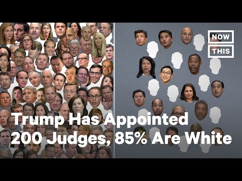 Trump Has Appointed 200 Judges, 85% Are White | NowThis