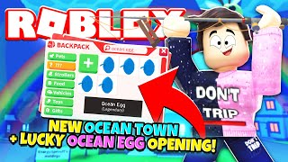 NEW OCEAN TOWN and LUCKY OCEAN EGG OPENING in Adopt Me! NEW Adopt Me Ocean Update (Roblox)