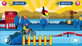 iOS Game Evel Knievel Level 1 Moses Lake Walkthrough All Gold Runs